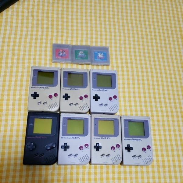 任天堂 Nintendo ニンテンドー GAME BOY ゲームボーイ 初期型 7点 ソフト3本セット DMG-01 当時物 中古 動作OK ジャンク