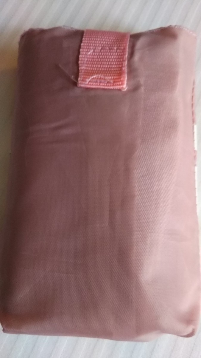 フランス パリ スーパーマーケット モノプリ エコバッグ トートバッグ モノプリエコバッグ MONOPRIX ローズ 薄いピンク色 送料120円 _画像2