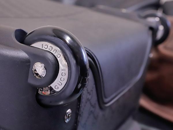 新品同 グッチ 極希少 246459 インプリメGGメンズトロリー書類ビジネスバッグ 黒 ブラック キャリーバッグ パイロットケース 本物 正規_画像7