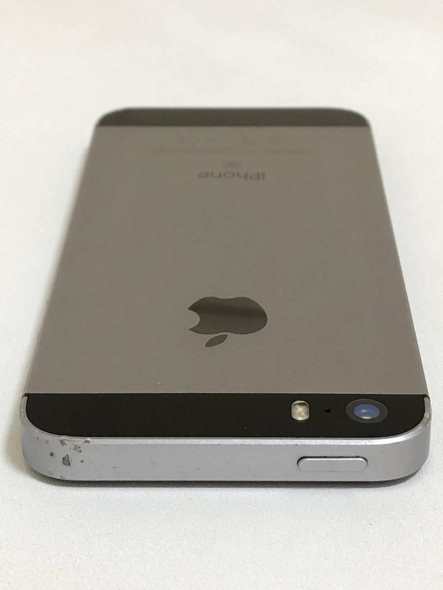 SIMフリー iPhoneSE 64GB Space Gray シムフリー アイフォンSE スペースグレイ 黒 docomo au softbank ドコモ ソフトバンク エーユー 本体_画像6