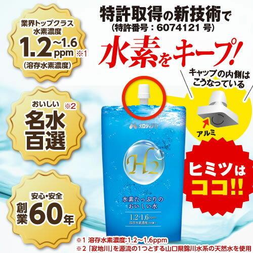 ◆即決最安値挑戦 水素たっぷりのおいしい水 高濃度水素水300mL×20本[ミネラルウォーター水](メロディアン いちおし)◆_画像2