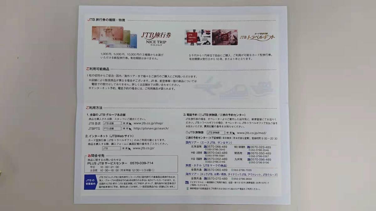 JTB旅行券 NICETRIPナイストリップ 1枚 【期間限定 ポイント消化にどうぞ】使用期限無しNo4_画像3