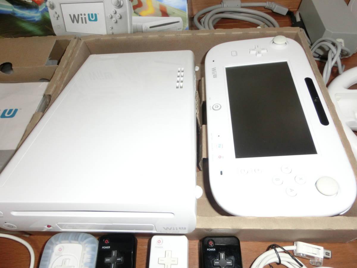★中古美品★Wii U プレミアム32GB(マリオカート8版+ソフト18本+Wii Fit U+付属品多数!)_画像5