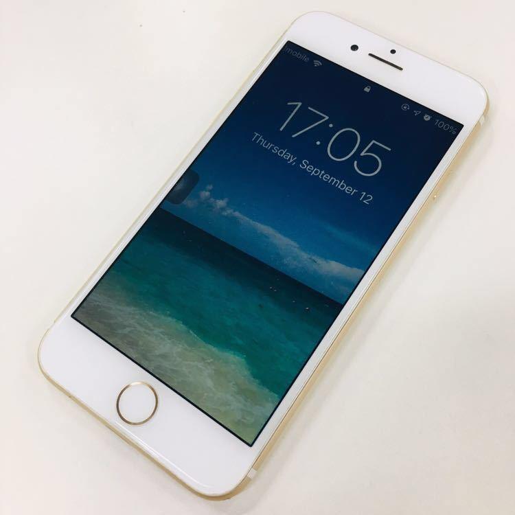 1円スタート【美品】iPhone7 SIMフリーゴールド128GB割れなし残債なし判定◯ヘッドホンNG送料185\_画像2