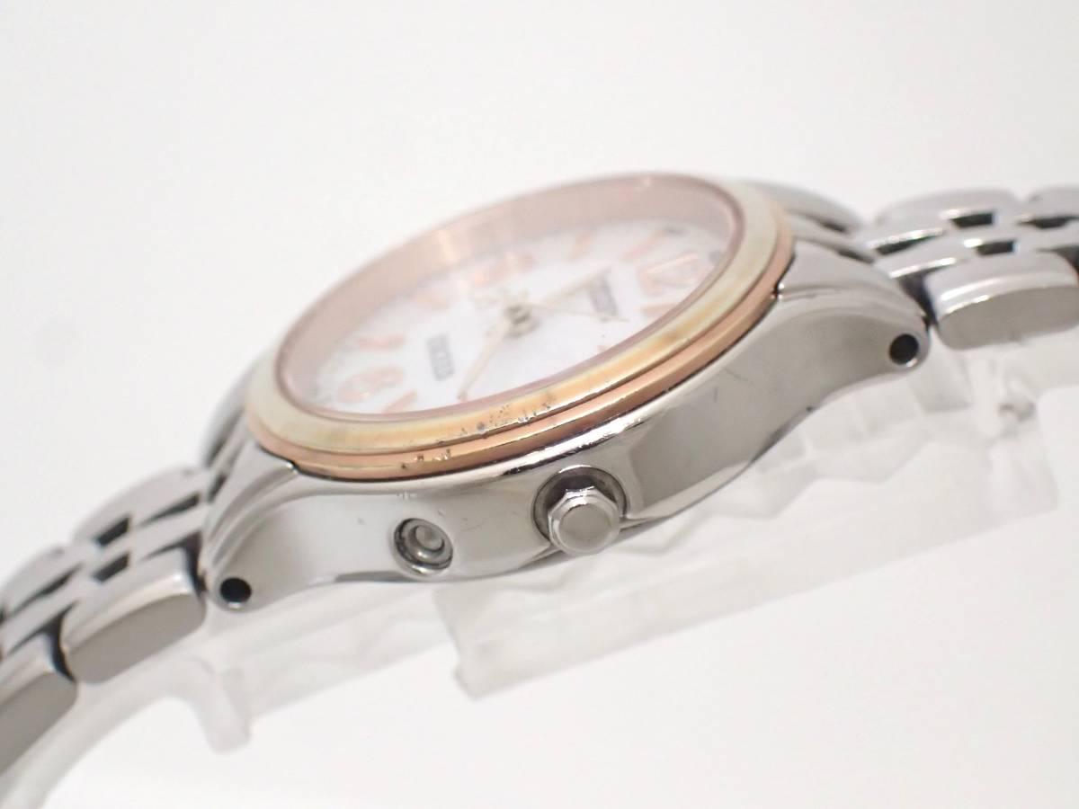 CITIZENシチズン/エクシード/DURATECT/H010-T014089/エコドライブ/電波ソーラー/レディース腕時計/シェル文字盤[T]_画像4