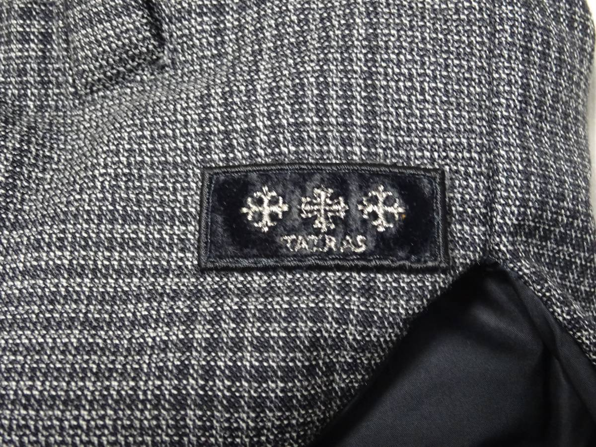 タトラス*ANSER グレンチェック ウール・レーヨン生地 ダウン ベスト ジャケット メンズ 01 グレー 国内正規品_画像3