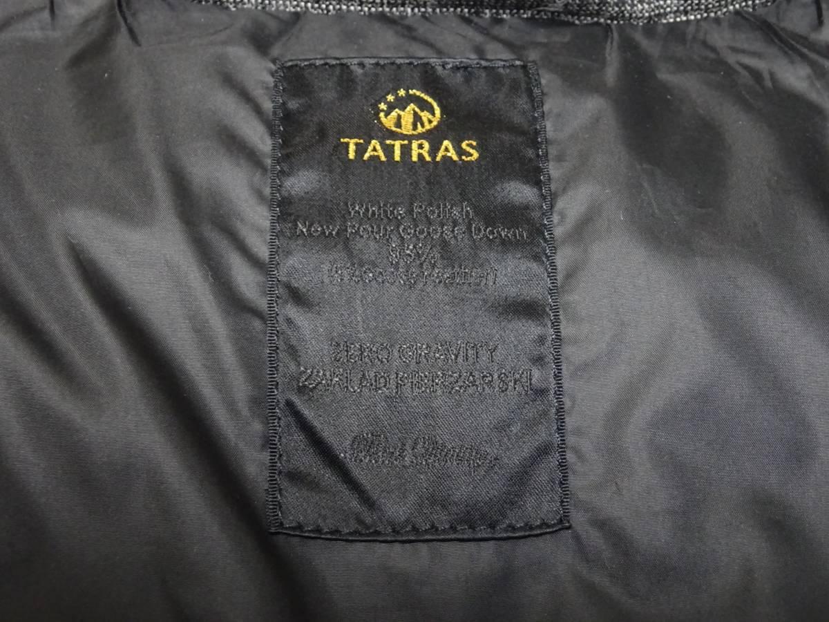 タトラス*ANSER グレンチェック ウール・レーヨン生地 ダウン ベスト ジャケット メンズ 01 グレー 国内正規品_画像4
