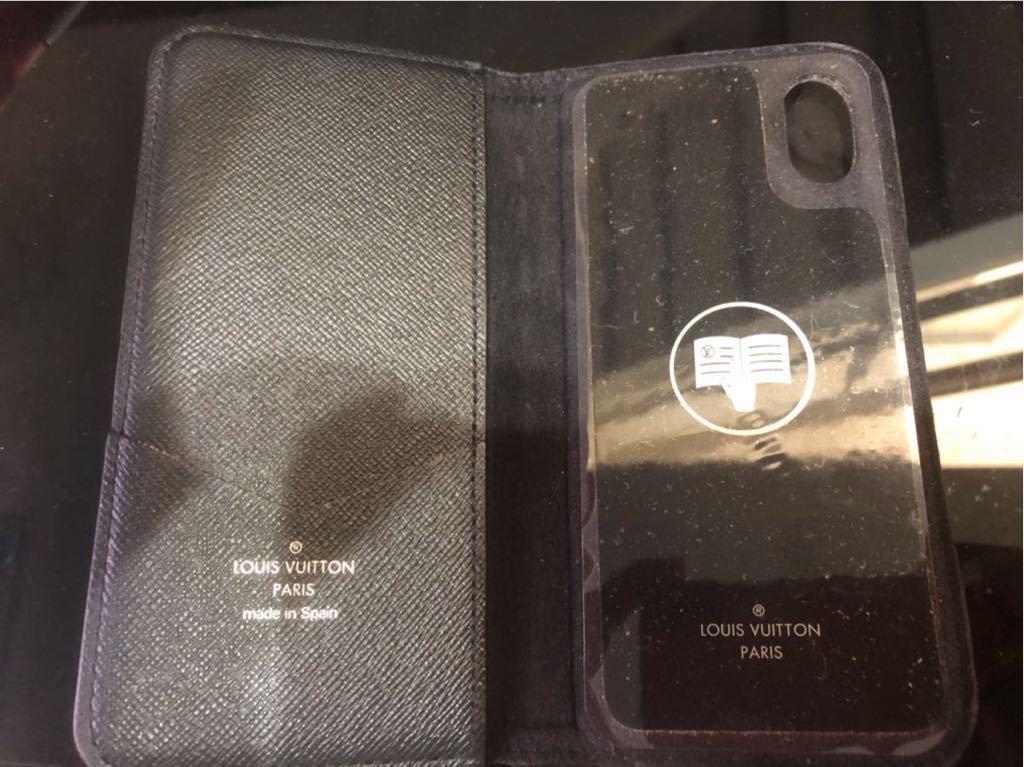 1円スタート! ルイヴィトン LV スマホケース iPhone カバー x 美品 LOUIS VUITTON_画像8