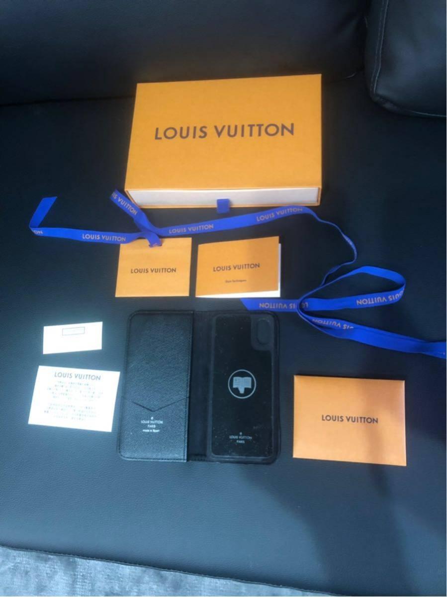 1円スタート! ルイヴィトン LV スマホケース iPhone カバー x 美品 LOUIS VUITTON