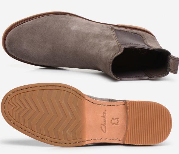 Clarks 23cm サイドゴア ブーツ ジッパー トープ スエード チェルシー レザー 革 ブーティー ローファー バレエ スニーカー パンプス AC6_画像10