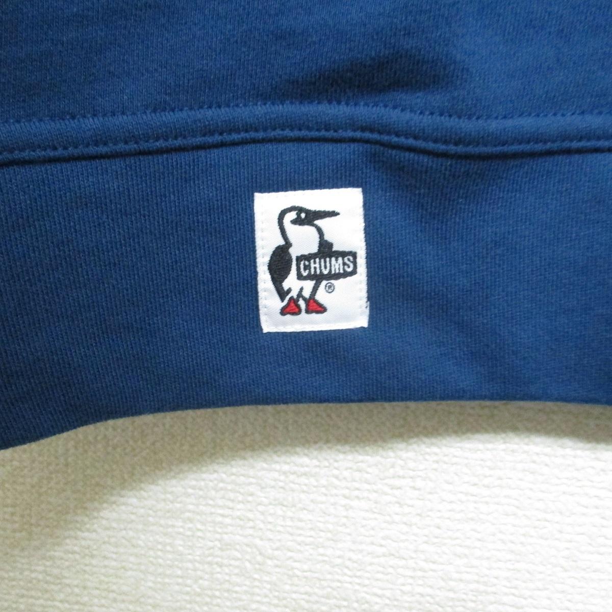 L ネイビー 新品 CHUMS チャムス ロゴ 刺繍 ビッグ ブービー Booby クルー トップ スウェット トレーナー 紺 未使用 7590円 春物 春先_画像6
