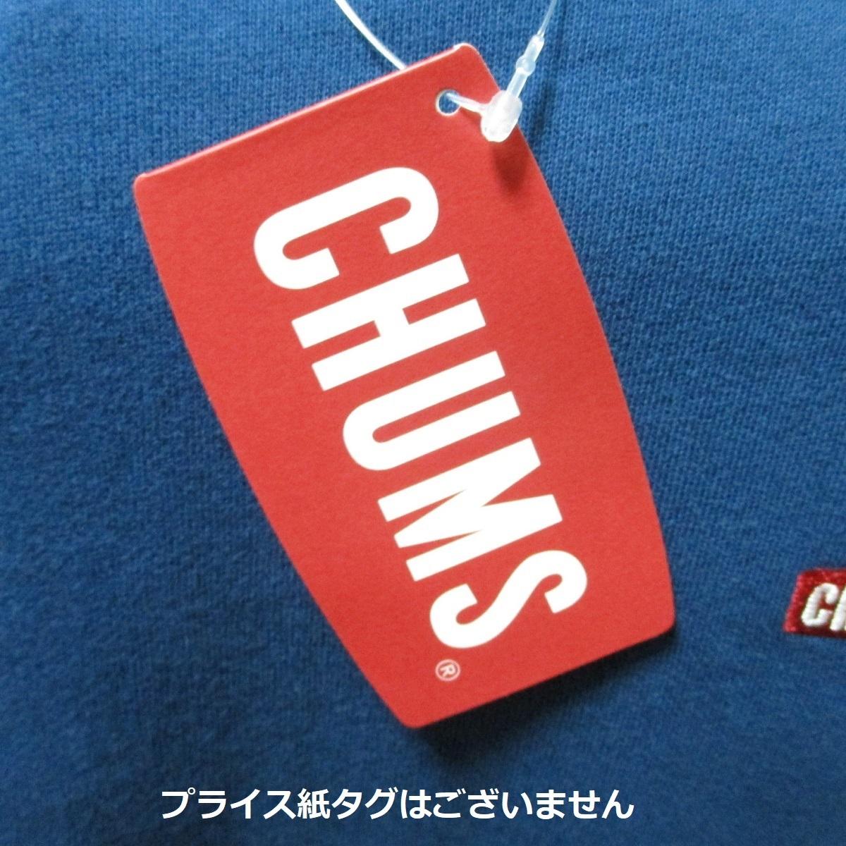 L ネイビー 新品 CHUMS チャムス ロゴ 刺繍 ビッグ ブービー Booby クルー トップ スウェット トレーナー 紺 未使用 7590円 春物 春先_画像7