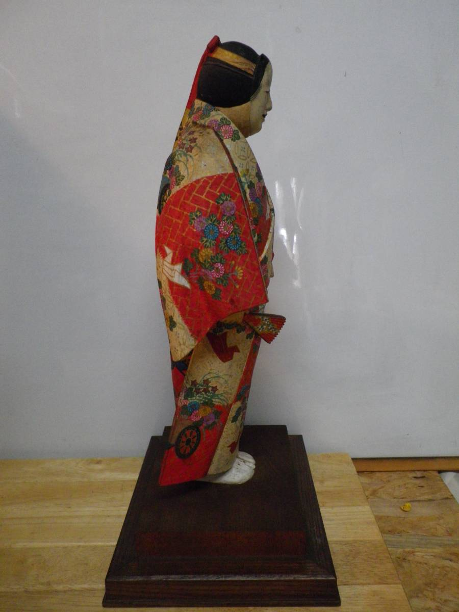 日展評議員 木彫 綿引司郎 能 熊野 木彫彩色 共箱_画像4