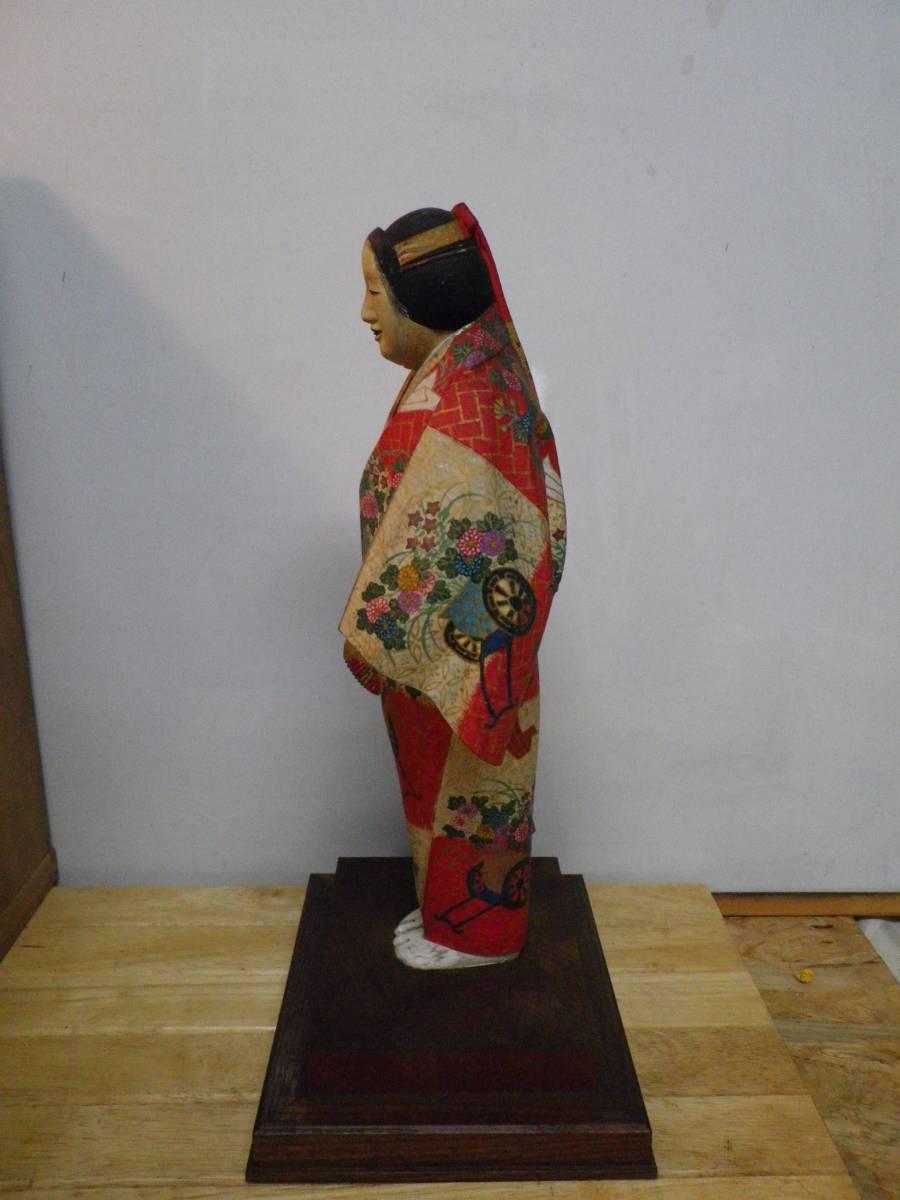 日展評議員 木彫 綿引司郎 能 熊野 木彫彩色 共箱_画像6