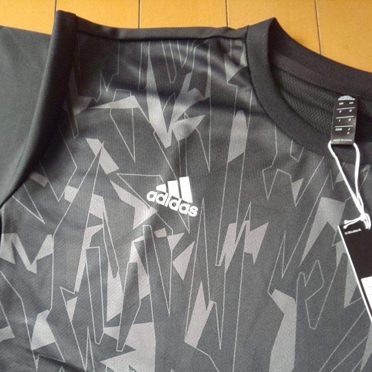 【ブラック・O】adidas アディダス 5T 2nd ユニフォーム 半袖 Tシャツ Impact C メンズ 送料210円 野球 部活 ベースボールウェア_画像3
