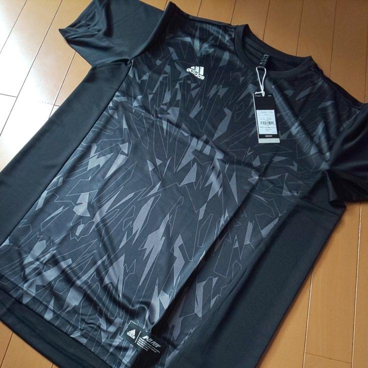 【ブラック・O】adidas アディダス 5T 2nd ユニフォーム 半袖 Tシャツ Impact C メンズ 送料210円 野球 部活 ベースボールウェア_画像2