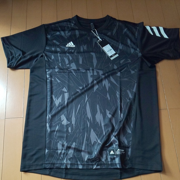 【ブラック・O】adidas アディダス 5T 2nd ユニフォーム 半袖 Tシャツ Impact C メンズ 送料210円 野球 部活 ベースボールウェア_画像1