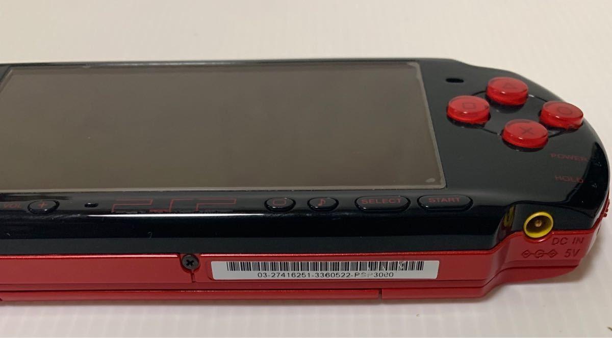 希少カラー 液晶美品 PSP-3000XBR ブラック レッド モンスターハンター 新米ハンターズパック 付属品 完品 動作良好 ソニー 1円スタート_画像4