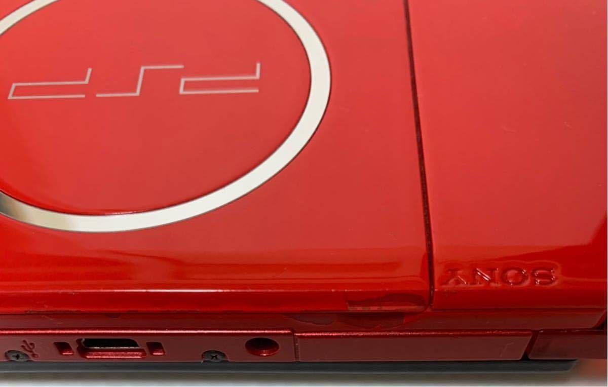 希少カラー 液晶美品 PSP-3000XBR ブラック レッド モンスターハンター 新米ハンターズパック 付属品 完品 動作良好 ソニー 1円スタート_画像6