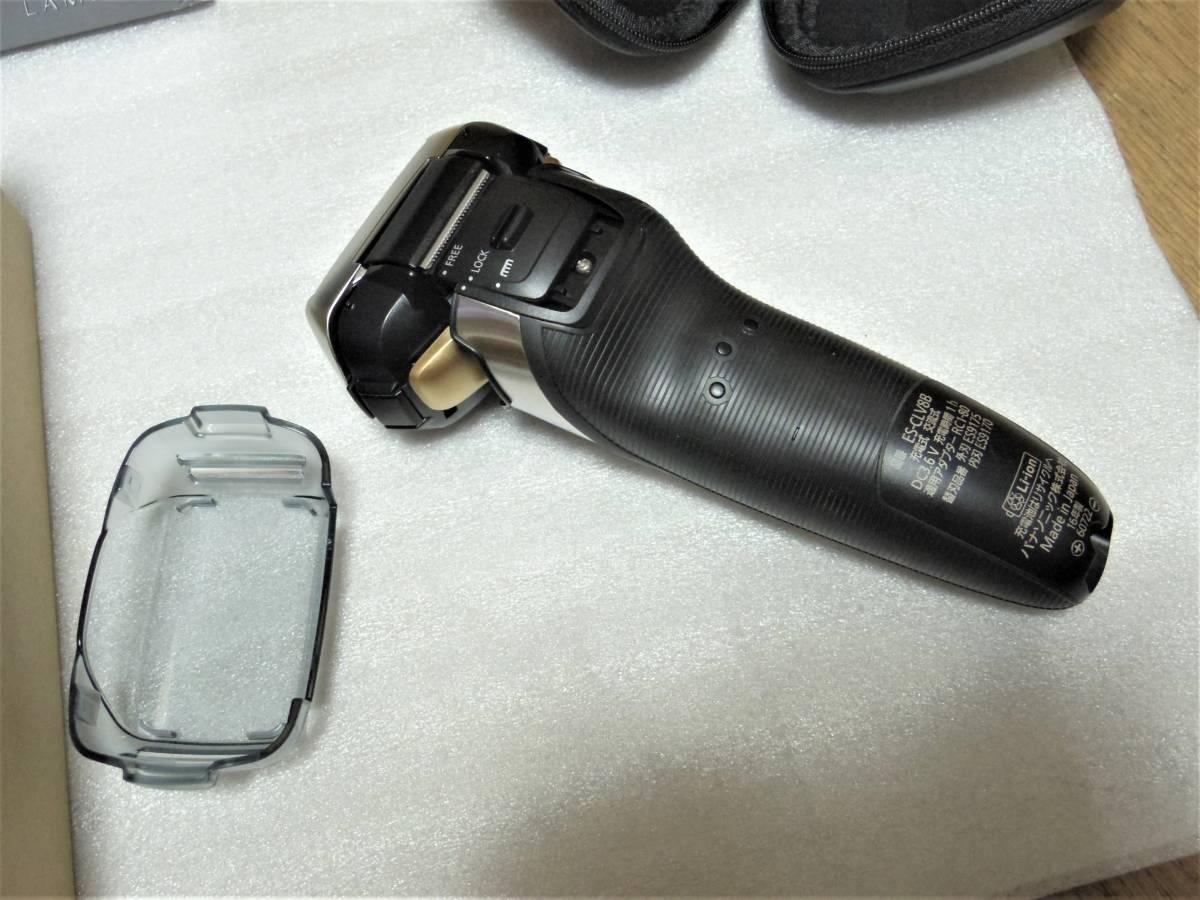 ■■メーカー保証付き 未使用展示品 5枚刃 パナソニック ラムダッシュ ES-CLV8B■■_画像9