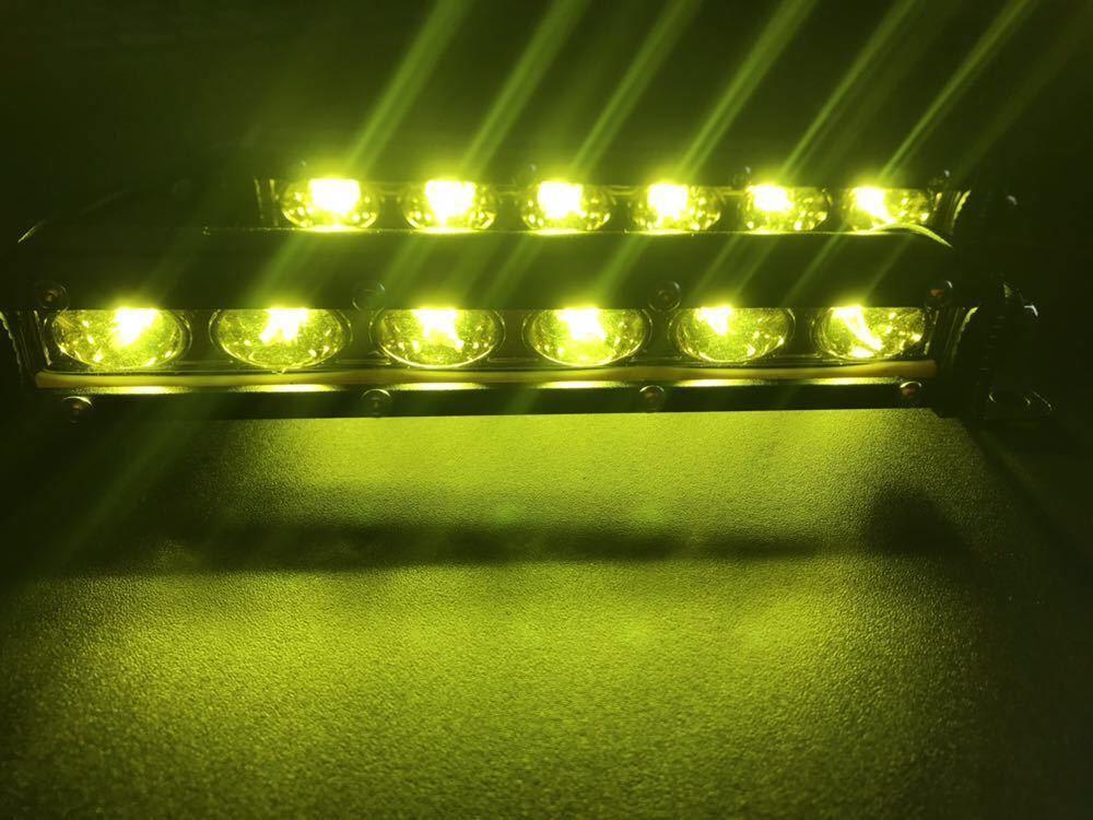 12V 24V LED デイライト フォグランプ イエロー 黄色 防水 トラック トレーラ 船舶 リフト クオン ギガ グレート プロフィア レンジャー_画像8