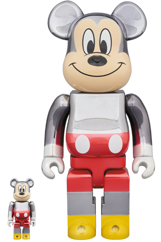 BE@RBRICK fragmentdesign MICKEY MOUSE COLOR Ver.100% & 400% ベアブリック フラグメント ミッキーマウス_画像1
