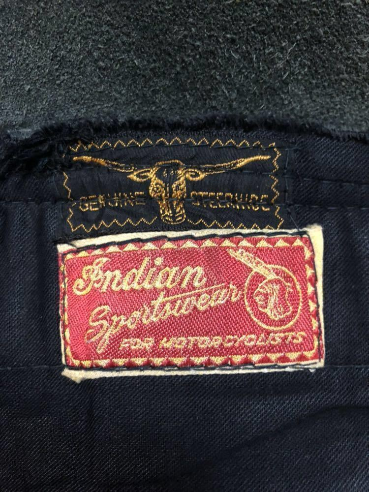 1950s Indian sportswear leather jacket size 42 当時物 ヴィンテージ インディアン モーターサイクル レザージャケット ライダース レア