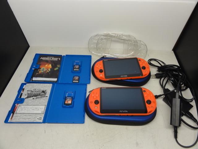 SONY ソニー PlayStation Vita 16GBメモリー付 2台セット 初期化済 中古品