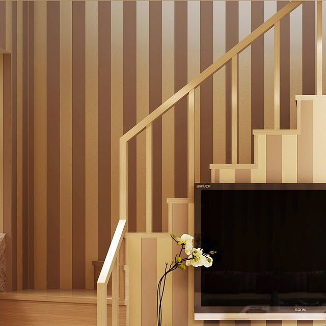 モダンなスタイルグリッターシルバーストライプ不織布壁紙壁装材リビングベッドルーム壁の装飾 Papel デ Parede ベージュ白_画像4