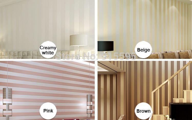 モダンなスタイルグリッターシルバーストライプ不織布壁紙壁装材リビングベッドルーム壁の装飾 Papel デ Parede ベージュ白_画像8