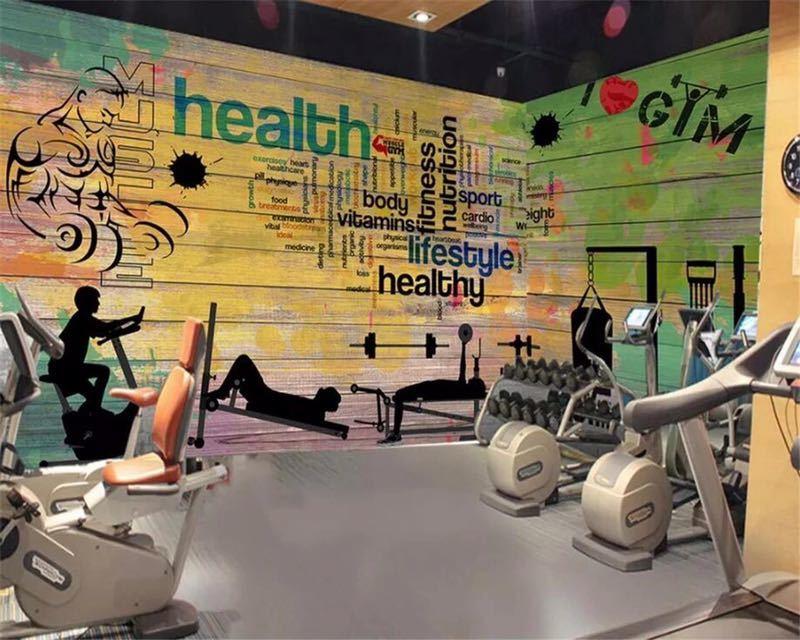 Beibehang カスタムメイドの壁画落書き厚板スポーツジムクラブジム壁背景装飾的な壁 papel デ parede 壁紙_画像4