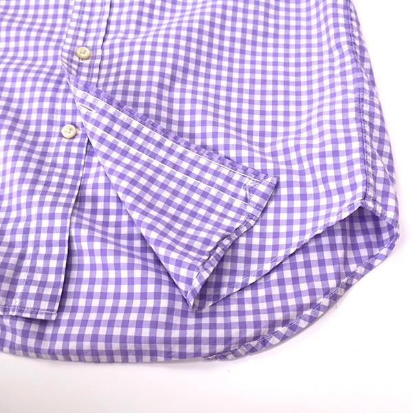 ラルフローレン ギンガムチェックBDシャツ パープル(レディースS相当)_画像6