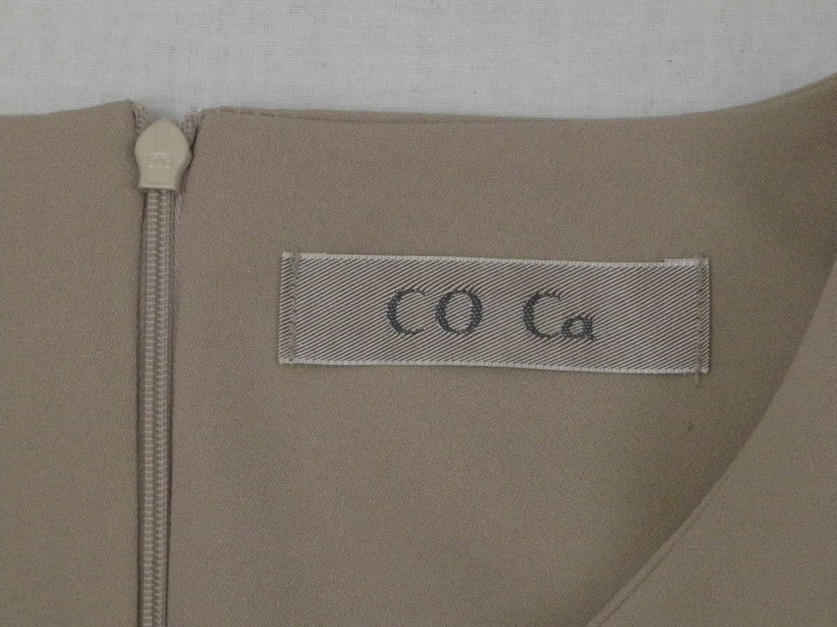 CO Ca・コカ◆ オプティ・七分袖ワンピース ◆美品_画像6