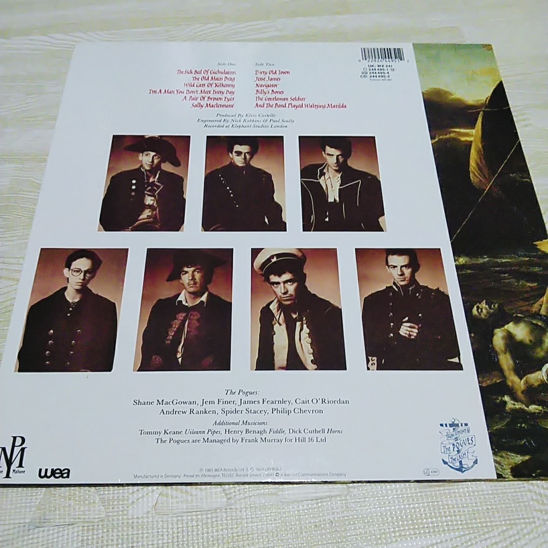 LPレコード■The POGUES■ポーグス・Rum Sodomy and the Lash 輸入盤 WEA 中古品_画像4