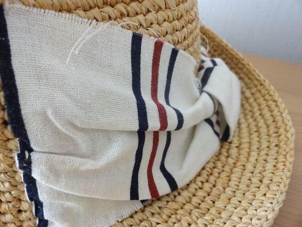 ∃Control freak∃男女兼用 麦わら帽子 ラフィア 中折れハット 綺麗な小麦色 サイズ57・5cm 帽子 キャップ 美品_画像8