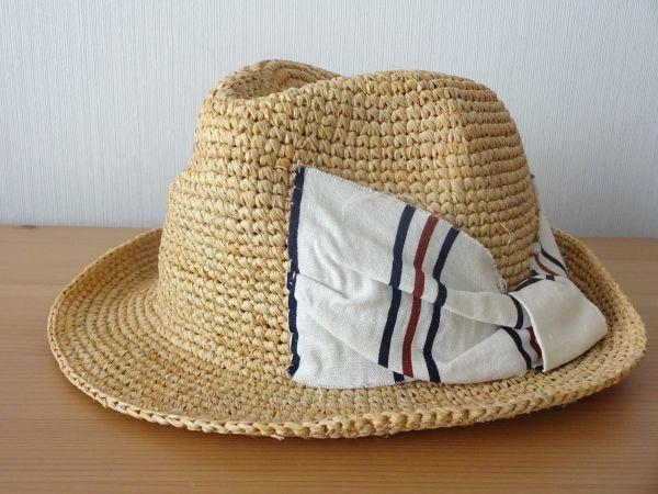 ∃Control freak∃男女兼用 麦わら帽子 ラフィア 中折れハット 綺麗な小麦色 サイズ57・5cm 帽子 キャップ 美品_画像6