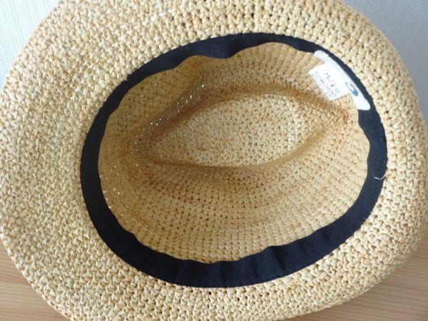 ∃Control freak∃男女兼用 麦わら帽子 ラフィア 中折れハット 綺麗な小麦色 サイズ57・5cm 帽子 キャップ 美品_画像5