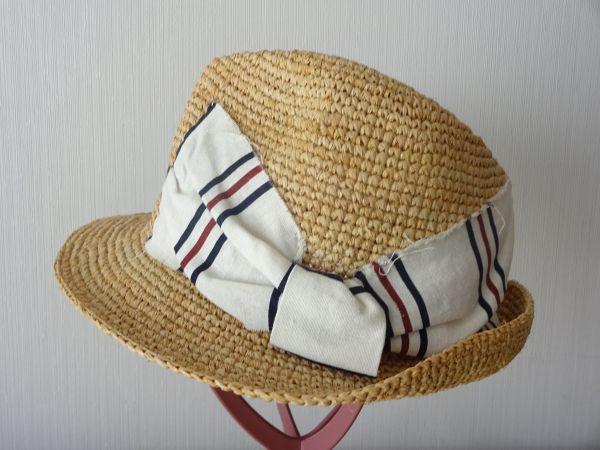 ∃Control freak∃男女兼用 麦わら帽子 ラフィア 中折れハット 綺麗な小麦色 サイズ57・5cm 帽子 キャップ 美品_画像1