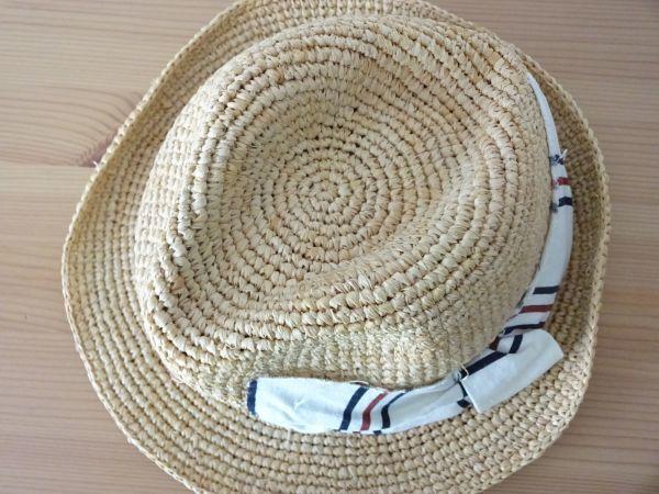 ∃Control freak∃男女兼用 麦わら帽子 ラフィア 中折れハット 綺麗な小麦色 サイズ57・5cm 帽子 キャップ 美品_画像7