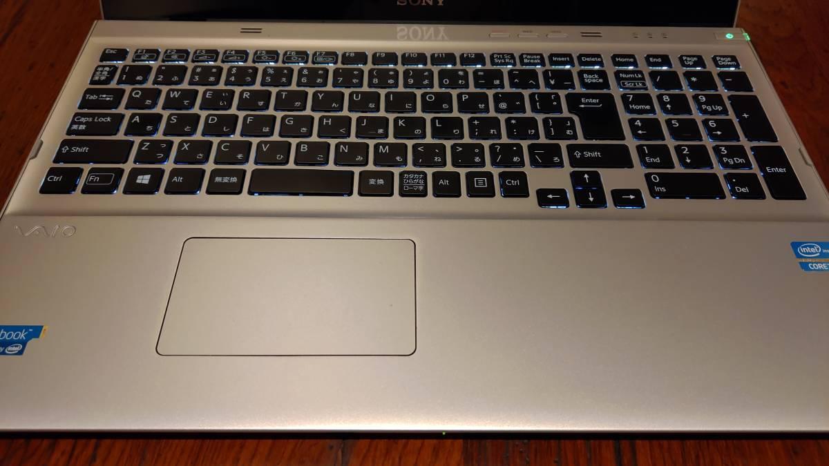 上位モデル 高速SSD タッチパネル フルHD SONY VAIO SVT15118CJS Core i7-3537U 8G 新SSD500GB+HDD750GB ブルーレイ office2019_画像2