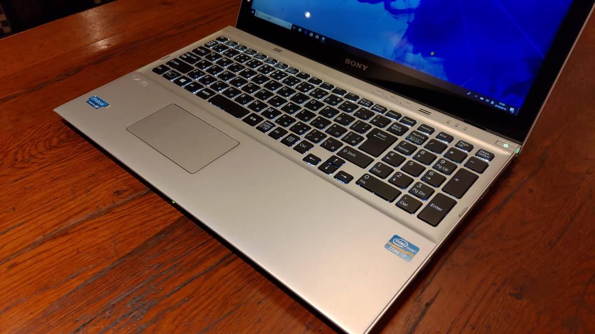 上位モデル 高速SSD タッチパネル フルHD SONY VAIO SVT15118CJS Core i7-3537U 8G 新SSD500GB+HDD750GB ブルーレイ office2019_画像4