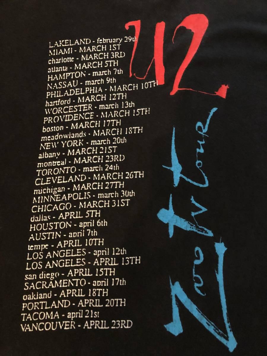 送料無料★80s90s【希少レア珍品,USA製アメリカ購入】u2 ZooTvTour ツアー,バンドTシャツOLDオールド音楽USEDオフィシャル古着ビンテージ