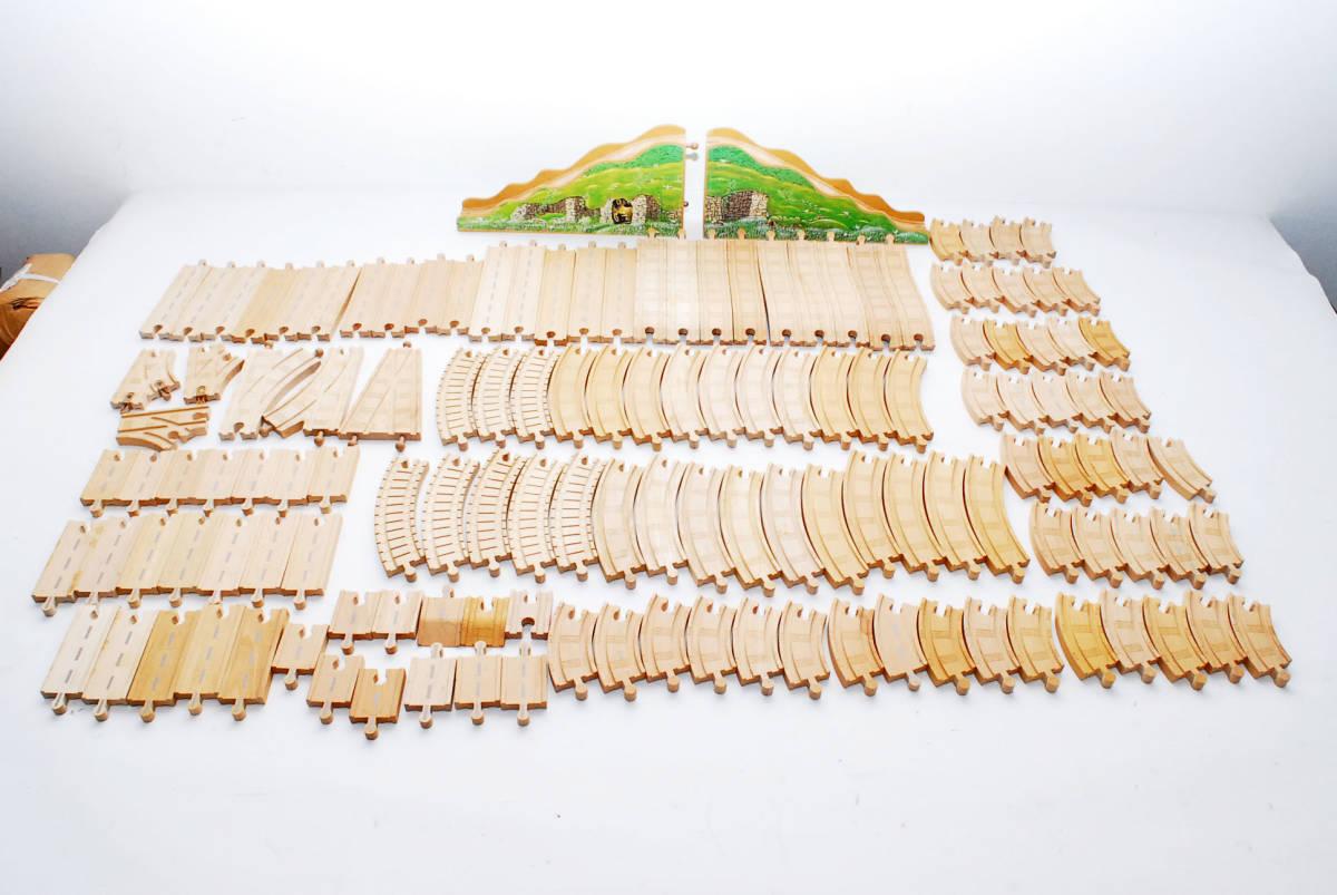10000円~ 売りつくしセール 【全てラーニングカーブ製 大量132本】  トーマス木製レール  レールまとめ 同梱可能 #2836