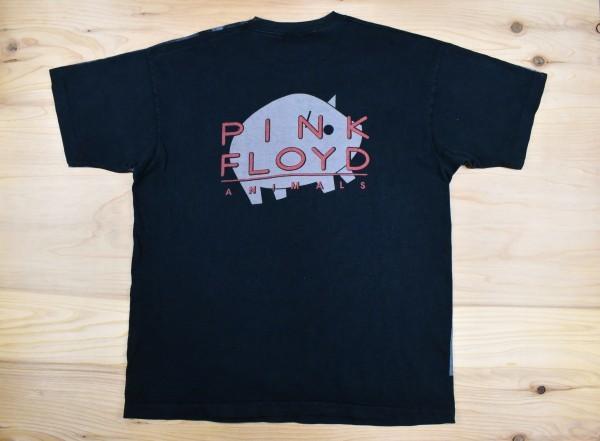 幻級 90'sUSA古着 BALZOUT PINK FLOYD ANIMALS ビンテージ Tシャツ sizeXL相当 黒 スケボー ピンクフロイド バンドT アメリカ BROCKUM_画像2