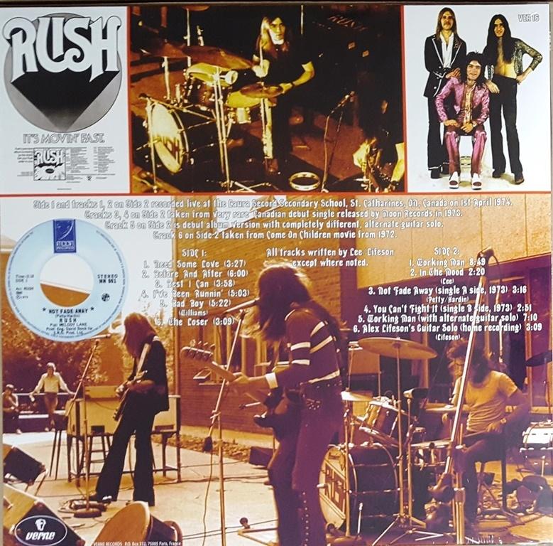 Rush - Live In St. Catharines, April 1974 限定アナログ・レコード