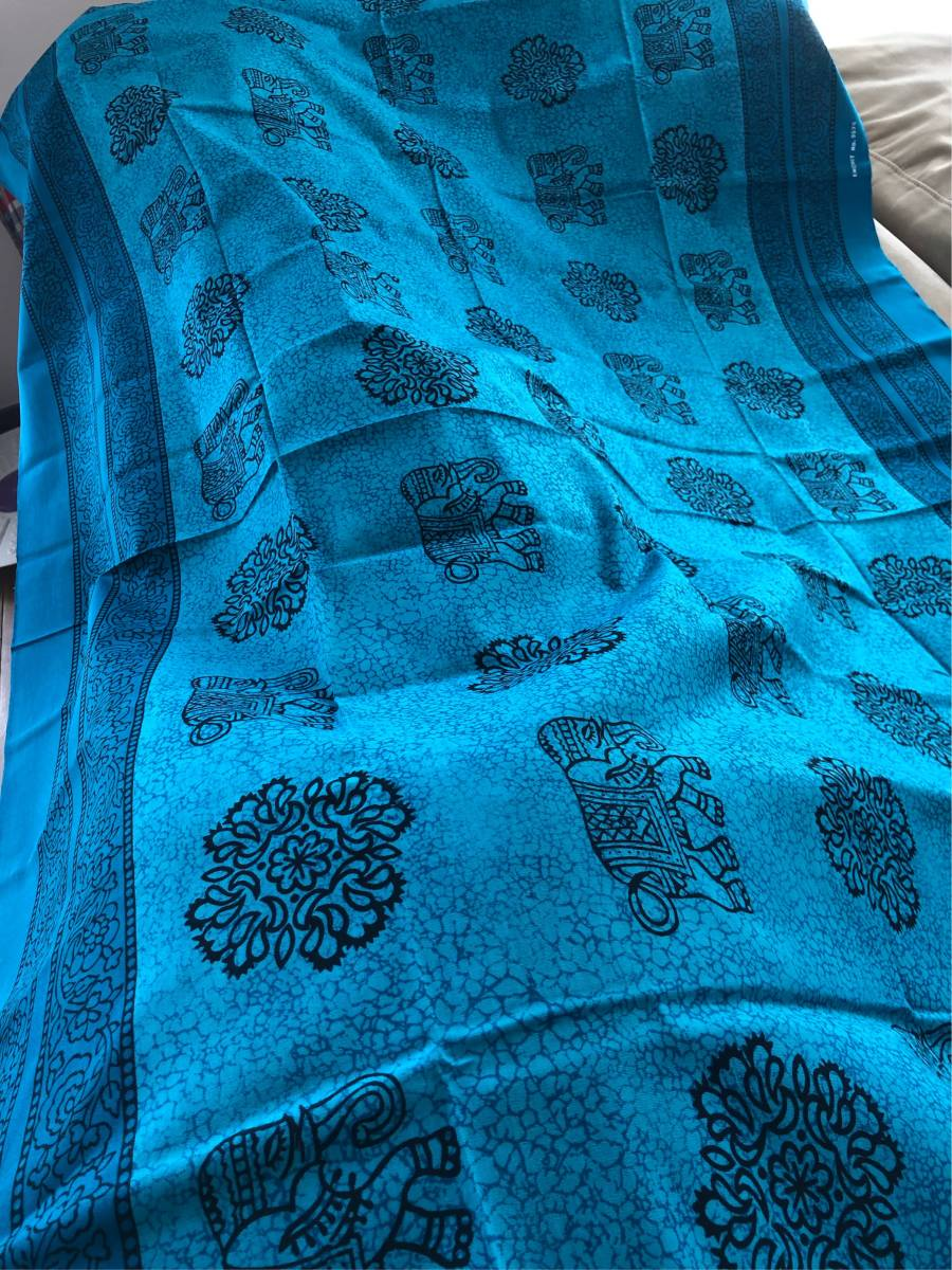 ★ elephant pattern cloth ④ ★ Asian goods Thailand Bali tapestry table cloth elephant India cover ethnic interior Tablecloth