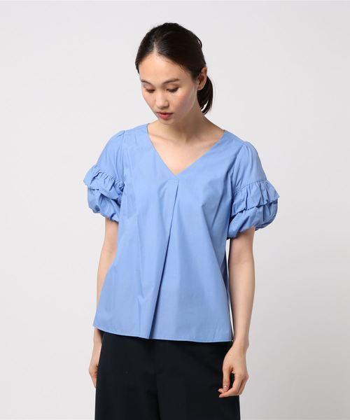 人気完売 デザイン袖が可愛い!エレガントなバルーン袖ブラウス 未使用品 セシルマクビー_今回の出品はこちらのブルーです