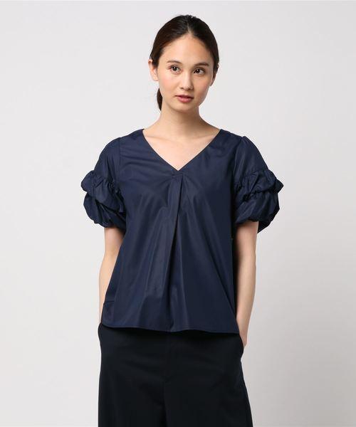 人気完売 デザイン袖が可愛い!エレガントなバルーン袖ブラウス 未使用品 セシルマクビー_画像2