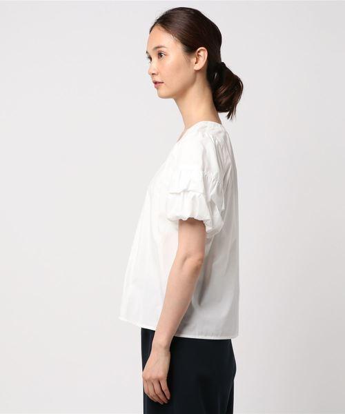 人気完売 デザイン袖が可愛い!エレガントなバルーン袖ブラウス 未使用品 セシルマクビー_画像3
