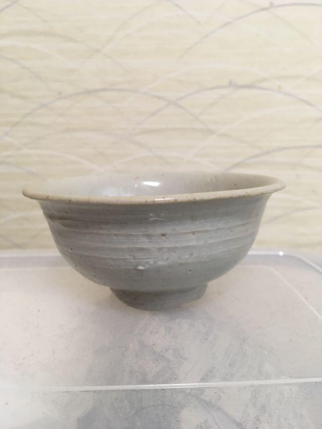 李朝初期 白磁茶碗_画像1